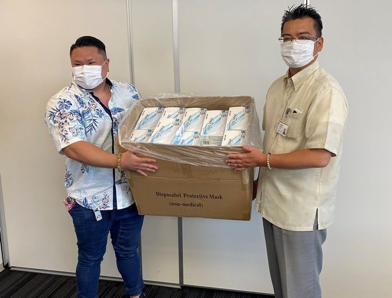 沖縄共同病院様へのマスク寄付